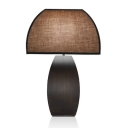 Mushroom Table Lamp with Brown Fabric Shade, 24'' Height