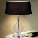 Modern Table Lamp with Glass Accent Black Shade