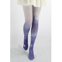 Color Block Ombre Galaxy Print Skinny Pantyhose