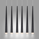 Narrow Conical Hanging Pendant Light 6 Lights