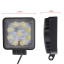 5 Inch LED Work Light 27W Cree LED Flood Beam For Off Road 4x4 Jeep Truck ATV SUV Pickup Boat, 10 Pcs