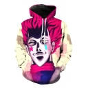 New Stylish 3D Cartoon Character Printed Long Sleeve Hoodie with Pockets
