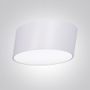 Lean White Flush Mount  LED Drum, 10 Inch
