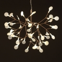LED Wire Branch Structure Chandelier, 45 Lights