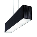 Rectangular Black Fabric Suspension Light 9.5''