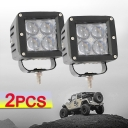 3 Inch LED Work Light 20W Cree LED 60 Degee Flood Beam For Off Road 4WD Jeep Truck ATV SUV Pickup Boat Pack of 2