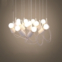 LED Postmodern Aluminium Suspension Light 12 Lights