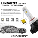 A359 Car LED Headlight Bulbs 9005 50W 8000LM 3000K Yellow& 6500K White LUXEON ZES LED, Pack of 2