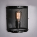 10'' High Black Mesh Hallway LED Wall Sconce