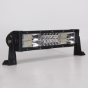 7D+ 13 Inch LED Work Light Bar 162W OSRAM Tri-Row Spot Flood Combo for Offroad 4x4 Jeep Truck ATV SUV 4WD Pickup Boat