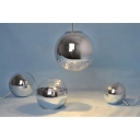 Ball Pendant Light in Chrome Finish
