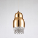 Golden Mini Pendant Black Aluminium