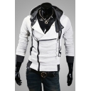 New Arrival Long Sleeve Casual Leisure Zip Placket Hoodie