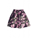 Summer's Hot Fashion Retro Floral Printed Mini A-Line Skirt