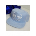 Chic Letter Cat Embroidered Hip Hop Street Style Unisex Baseball Cap