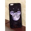 Cute Cartoon Galaxy Letter Printed Soft Case for iPhone