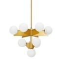 Globe Chandelier 10-Light White