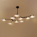 Postmodern Disc Branch Chandelier, 9 Lights