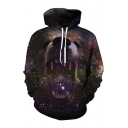 New Stylish 3D Lion Pattern Long Sleeve Casual Hoodie with Pockets
