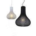 Inner Glass Stripe Ground Pendant Black/White 19