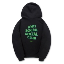 Fashion Drawstring Hooded ANTI SOCIAL SOCIAL CLUB Letter Printed Hoodie Sweatshirt