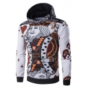 Hot Fashion Poker Printed Long Sleeve Casual Loose Hoodie