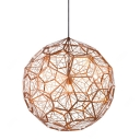 Etched Pendant Light Copper 23.6 Inch