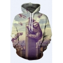 New Arrival 3D Animal Printed Long Sleeve Leisure Unisex Hoodie