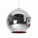 Chrome Ball Pendant Light Copper/Gold/Silver 5.90