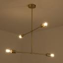 Vertical Minimal Chandelier 4 Bulbs