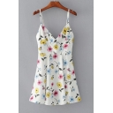 New Arrival Chic Floral Printed Mini A-Line Slip Dress