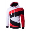 New Arrival Leisure Casual Color Block Long Sleeve Hoodie