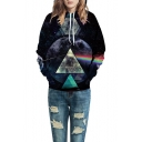 Couple Geometric Galaxy 3D Printed Long Sleeve Hoodie Sweatshirt