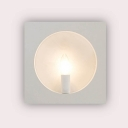 Square Candelabra LED Modern Wall Lamp Surface Mount
