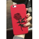 Hot Fashion Stylish Retro Rose Embroidered Mobile Phone Case for iPhone