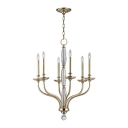 Candle Style Chandelier in Chrome/Gold Finish, 6 Lights