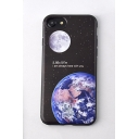 Fashion Moon Earth Galaxy Printed TPU Soft Case for iPhone