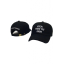Funny Adjustable Letter Embroidery Pattern Outdoor Baseball Cap