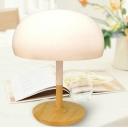 White Enamelled Ceramic Table Lamp Mushroom 14.96