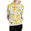 New Arrival 3D Cartoon Printed Long Sleeve Casual Hoodie for Couple