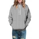 3D Geometric Printed Long Sleeve Casual Leisure Unisex Hoodie