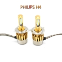 Philips P9 Car LED Headlight Bulbs H4 Hi-Lo Beam 72W 7600LM 6000K LED, Pack of 2