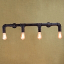 Industry Steam Pipe Warehouse LED Wall Sconce with Four Lights