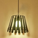 Industrial Hanging Pendant Light Nordic Style with Stripe Wire Net Metal Shade