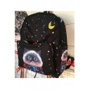 Retro Galaxy Lovely Cartoon Cat Pattern Students' Backpack