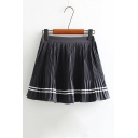 High Rise Elastic Waist Summer's Chiffon Mini A-Line Pleated Skirt