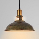Industrial Hanging Pendant Light with Green Bronze Shade for Indoor Lighting