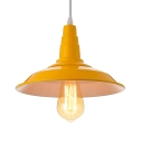 Barn Style Yellow LED Pendant Light Indoor Pendant