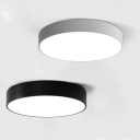 Black Finished LED Round Flush Mount Light Modern 10-15 Lights