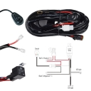 LED Light Bar Wiring Harness Kit 180W 12V 40A Fuse Relay ON/OFF Waterproof Switch 2 Lead 2 Meter Universal for Off Road ATV SUV Jeep Truck